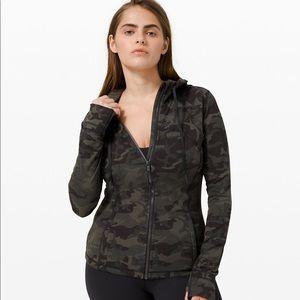 NWT Lululemon jacket in dark green camo